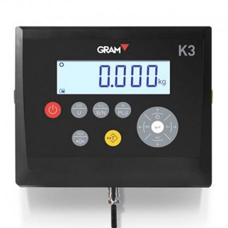 Visor para báscula y balanzas Gram K3