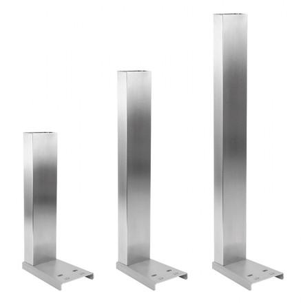 Columna Gram de acero inoxidable rectangular