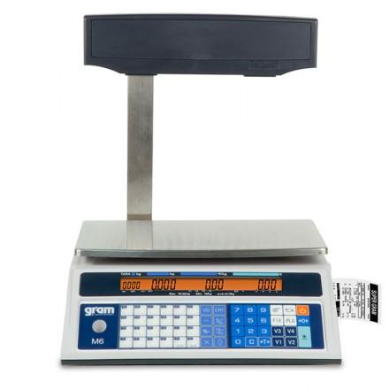 Balanza comercial con impresora integrada Gram M6