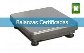 Balanzas y básculas certificadas